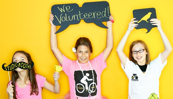 If these young girls can volunteer, why don't you?
